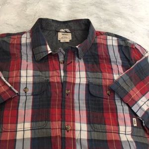 Vans plaid tee shirt